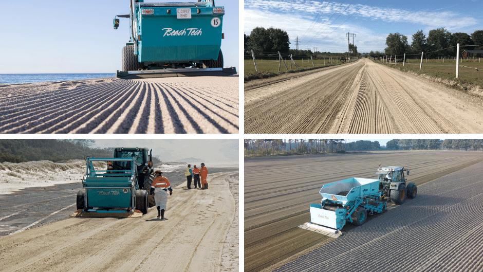 Reitplatzpflege mit BeachTech Sandreinigern