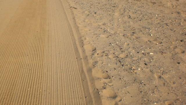 Gereinigter Strand nach BaechTech Finisher