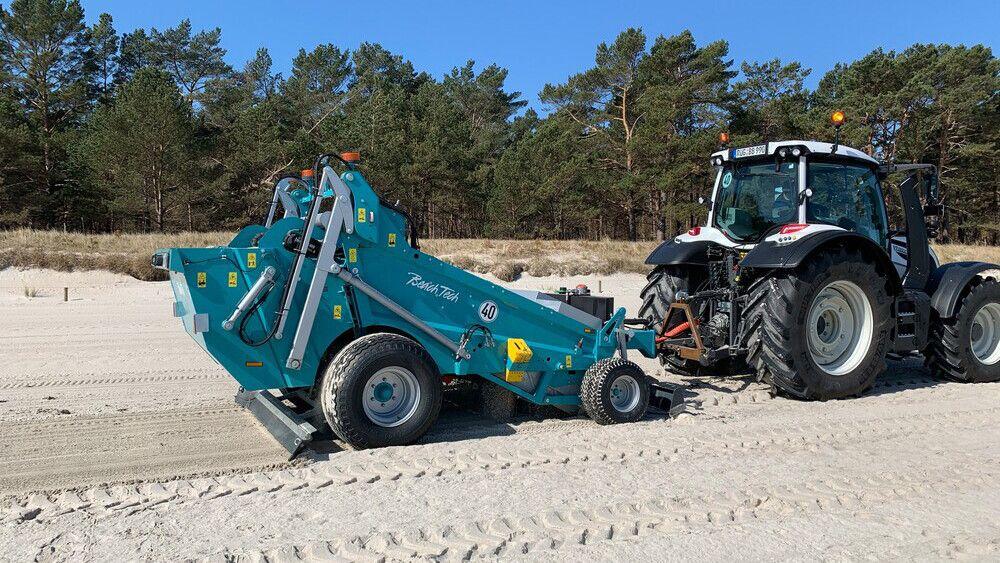 Der neue BeachTech 1500 im Einsatz an der Ostsee